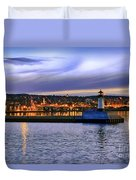 North Pier Evening Duvet Cover