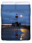 North Pier Reflections Duvet Cover