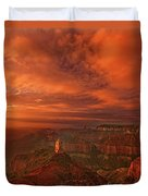 North Rim Storm Clouds Grand Canyon National Park Arizona Duvet Cover