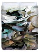 North Shore Abstract Wild Flowers Duvet Cover