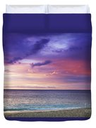 North Shore Beach Sunset Duvet Cover