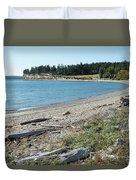 North Shore Of Penn Cove Duvet Cover