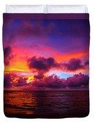North Shore Sunset  Duvet Cover