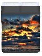North Shore Sunset Duvet Cover