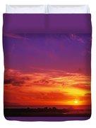 North Shore Sunset Duvet Cover by Vince Cavataio - Printscapes