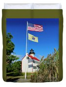 North Wind At East Point Light Duvet Cover