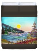 North With Yellow Sun Duvet Cover