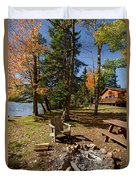 North Woods Lake Three Duvet Cover