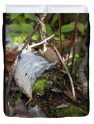 North Woods Mossy Birch Duvet Cover