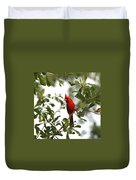 Northern Cardinal - In The Wind Duvet Cover