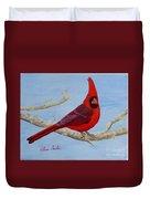 Northern Cardinal 2 Duvet Cover
