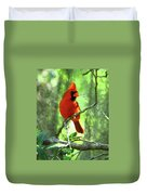 Northern Cardinal Proud Bird Duvet Cover