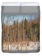 Northern Forests Ghost In-flight Duvet Cover