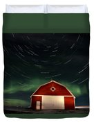 Northern Lights Canada Barn Duvet Cover