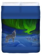 Northern Lights Night Duvet Cover