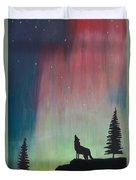 Northern Lights Stardust Duvet Cover by Jackie Novak