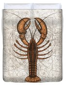 Northern Lobster Duvet Cover by Charles Harden