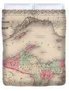 Northern Michigan And Lake Superior Duvet Cover