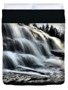 Northern Michigan Up Waterfalls Bond Falls Duvet Cover