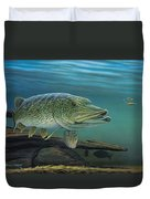 Northern Pike Duvet Cover