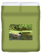 Northern Shoveler Drake Duvet Cover