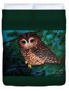 Northern Spotted Owl Duvet Cover