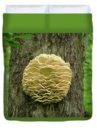 Northern Tooth Fungus Duvet Cover
