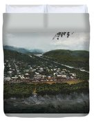 Northumberland On The Susquehanna River Duvet Cover