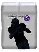 Northwestern Football Duvet Cover
