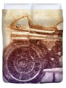 Norton Manx 2 - Norton Motorcycles - 1947 - Vintage Motorcycle Poster - Automotive Art Duvet Cover