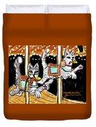 Norumbega Cats Duvet Cover