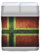 Norway Distressed Flag Dehner Duvet Cover