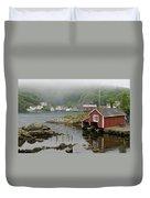 Norway, Fishing Village Duvet Cover