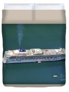 Norwegian Star In Geiranger Norway Duvet Cover