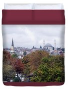 Nostalgia Of The Autumn In Istanbul Duvet Cover