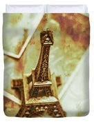 Nostalgic Mementos Of A Paris Trip Duvet Cover