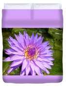 Purple Smiles Duvet Cover