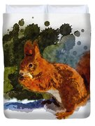 Not Much Goes On In The Mind Of A Squirrel Duvet Cover