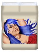 Not Your Typical Little Blue Haired Old Lady Duvet Cover