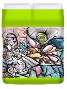 Note Card Art Duvet Cover