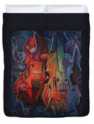 Noteworthy - A Viola Duo Duvet Cover