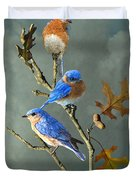 Nothing But Bluebirds Duvet Cover