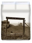 Notleys Landing Big Sur Coast By L. S. Slevin  May 1919 Duvet Cover