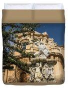 Noto Sicilian Baroque - Church Of San Domenico On A Bright Sunny Day Duvet Cover