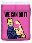 Notorious Rbg Ruth Bader Ginsburg We Can Do It Pop Art Duvet Cover