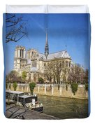 Notre Dame And The Seine Duvet Cover