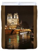 Notre Dame Bridge Paris France Duvet Cover