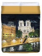 Notre Dame Duvet Cover by Bruce Schmalfuss