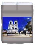 Notre Dame Cathedral Paris 4 Duvet Cover