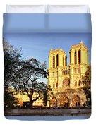 Notre Dame De Paris Facade Duvet Cover